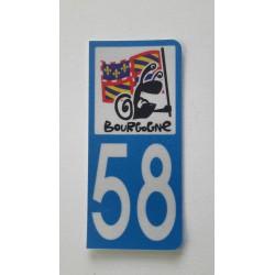 Sticker immatriculation 89 Bourgogne