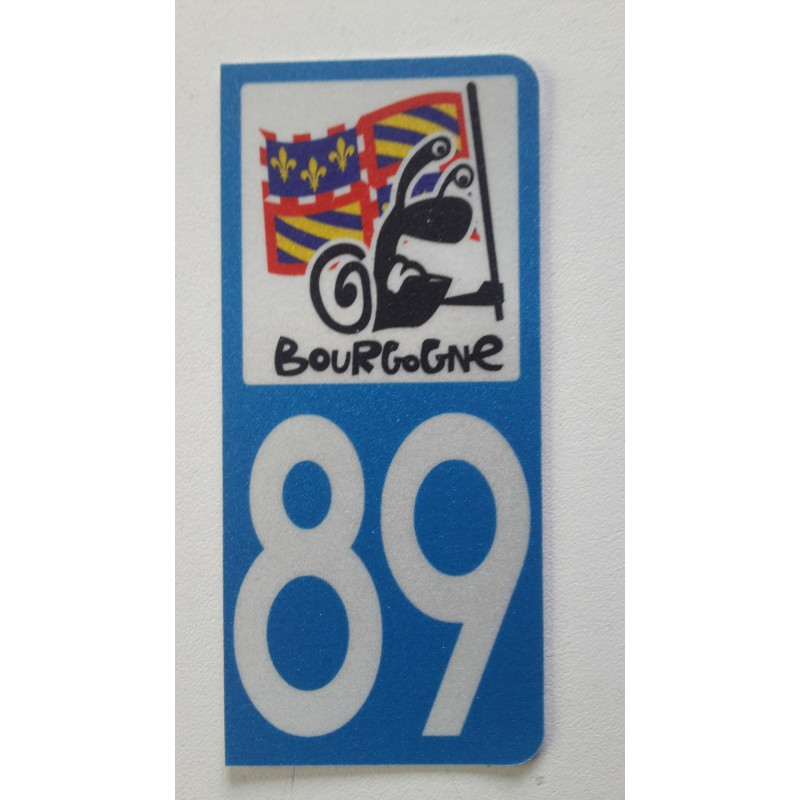 Sticker immatriculation 89 Bourgogne