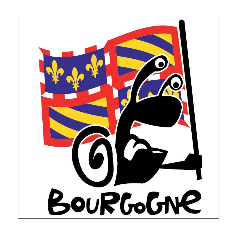 ESCARGOT Porte drapeau BOURGOGNE