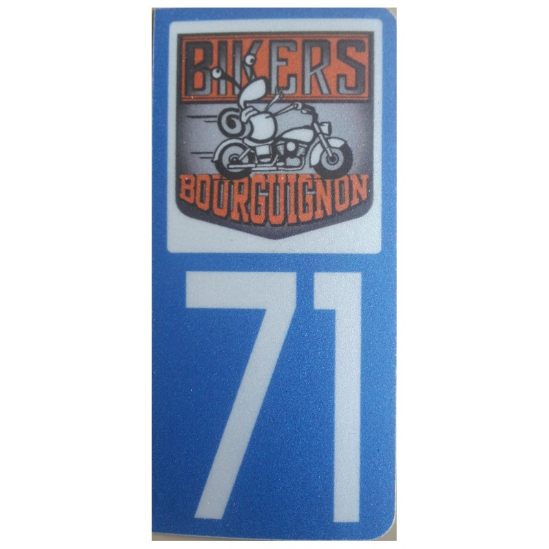 Sticker immatriculation  71 BIKERS